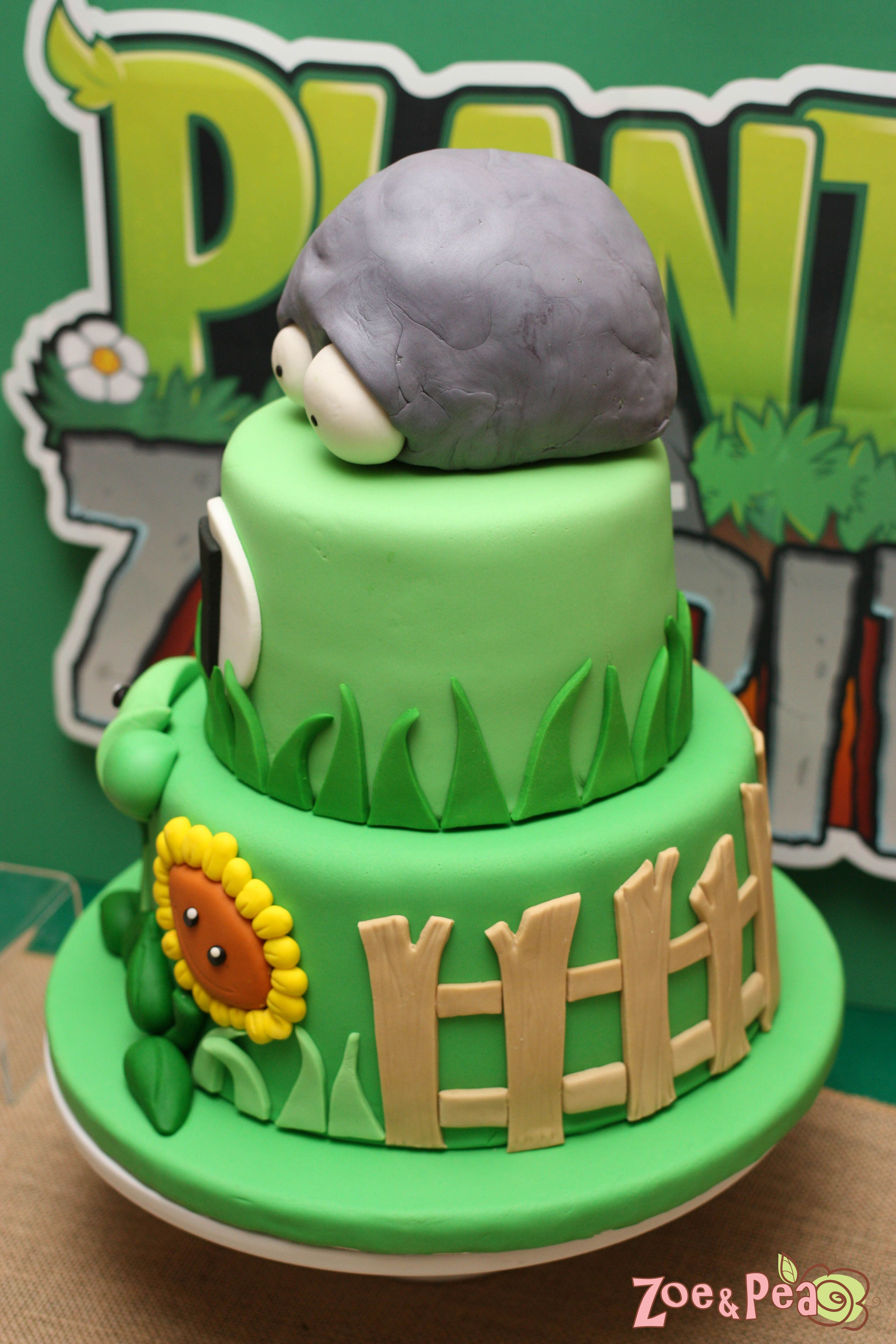 Plants Vs Zombies Birthday Cake Pin Tiffany Burns On Ideas For Kids In 2018 Plants Vs Zombies