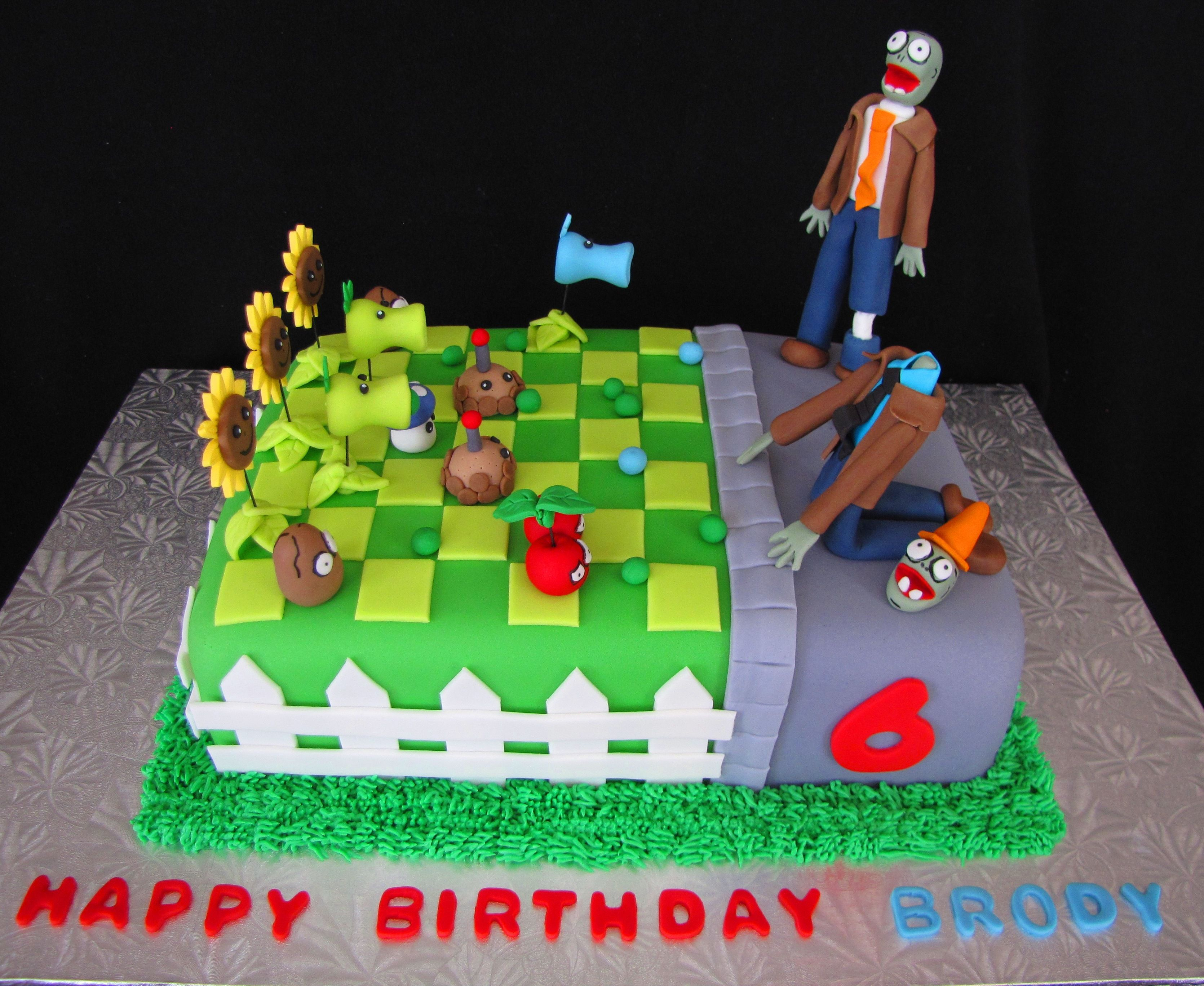 Plants Vs Zombies Birthday Cake Plants Vs Zombies Bday Cake For Me I Want Pinterest