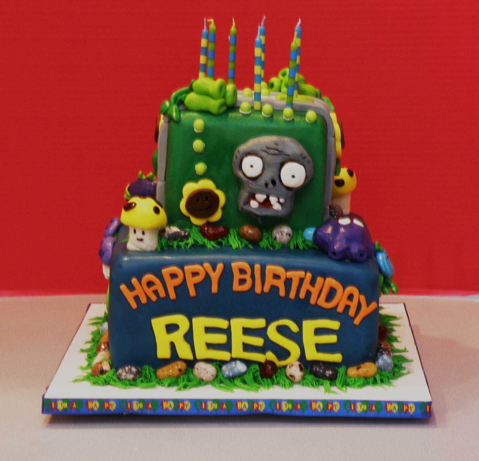 1890 X 1821 In 34 Exclusive Picture Of Plants Vs Zombies Birthday Cake