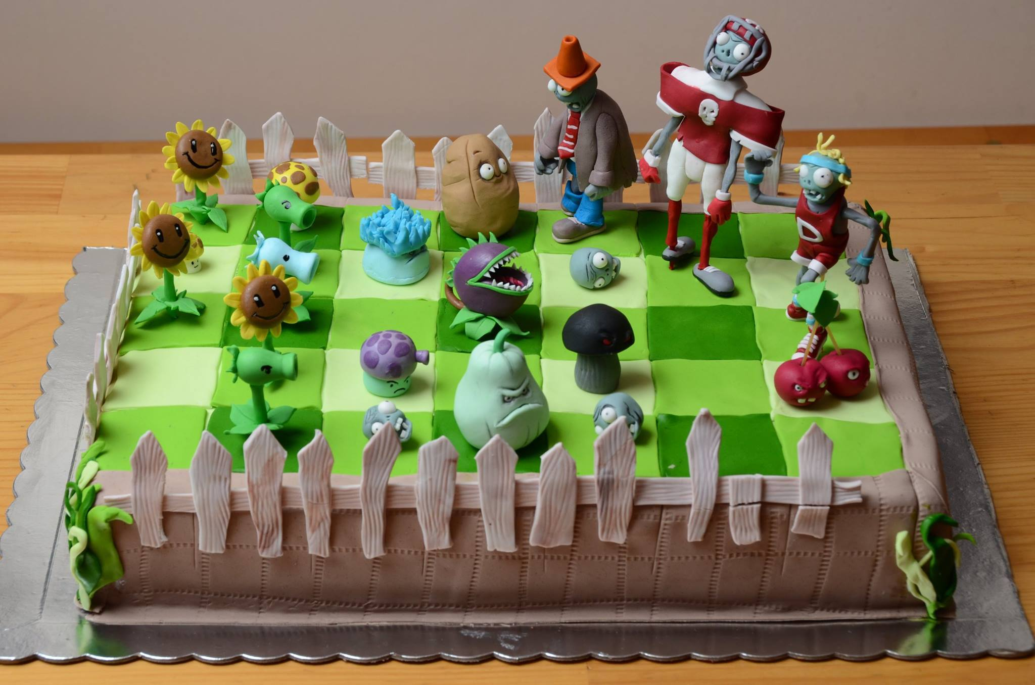 Plants Vs Zombies Birthday Cake Images Hd Wallpaper And