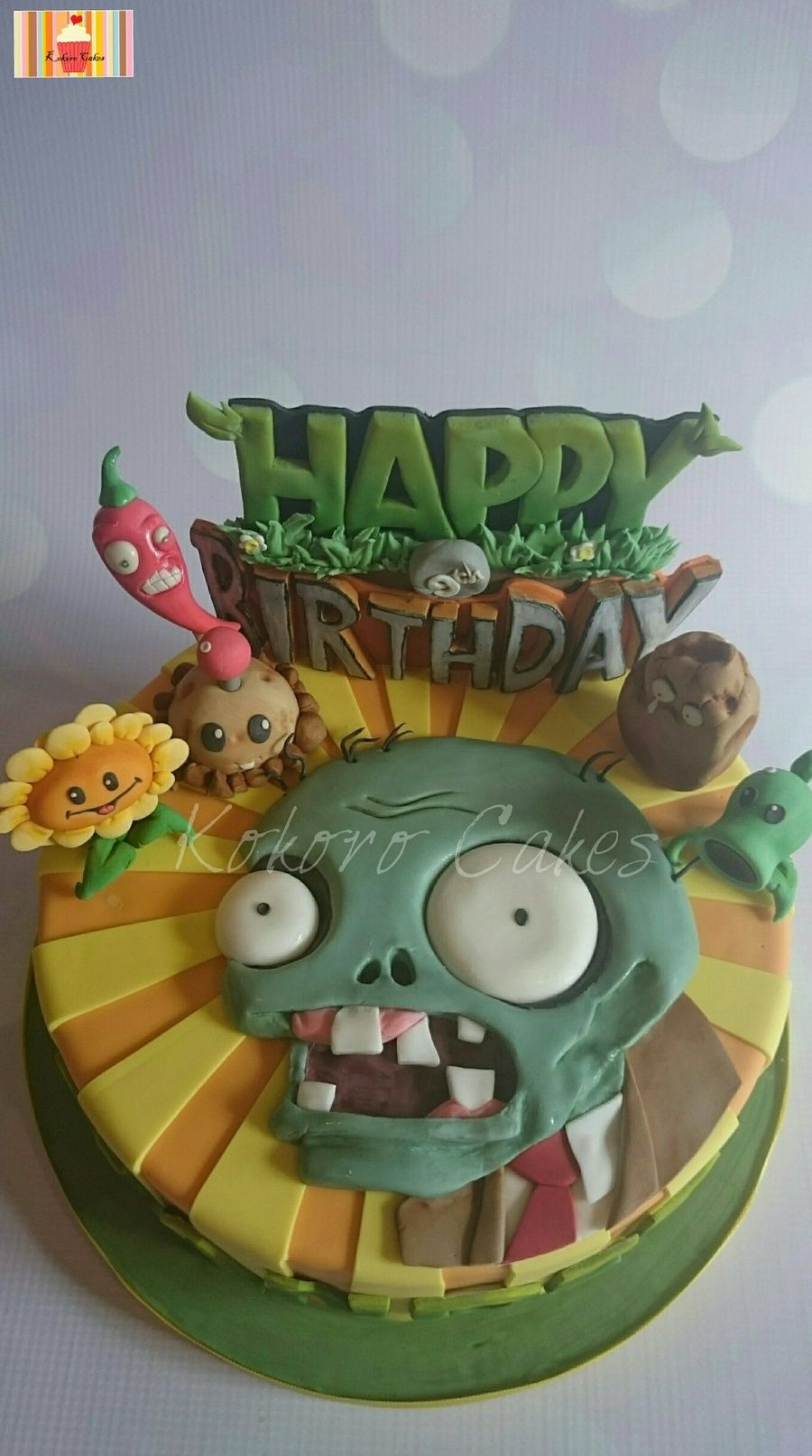 Plants Vs Zombies Birthday Cake Plants Vs Zombies Themed Cake Cakescupcakes And Cookies I Love