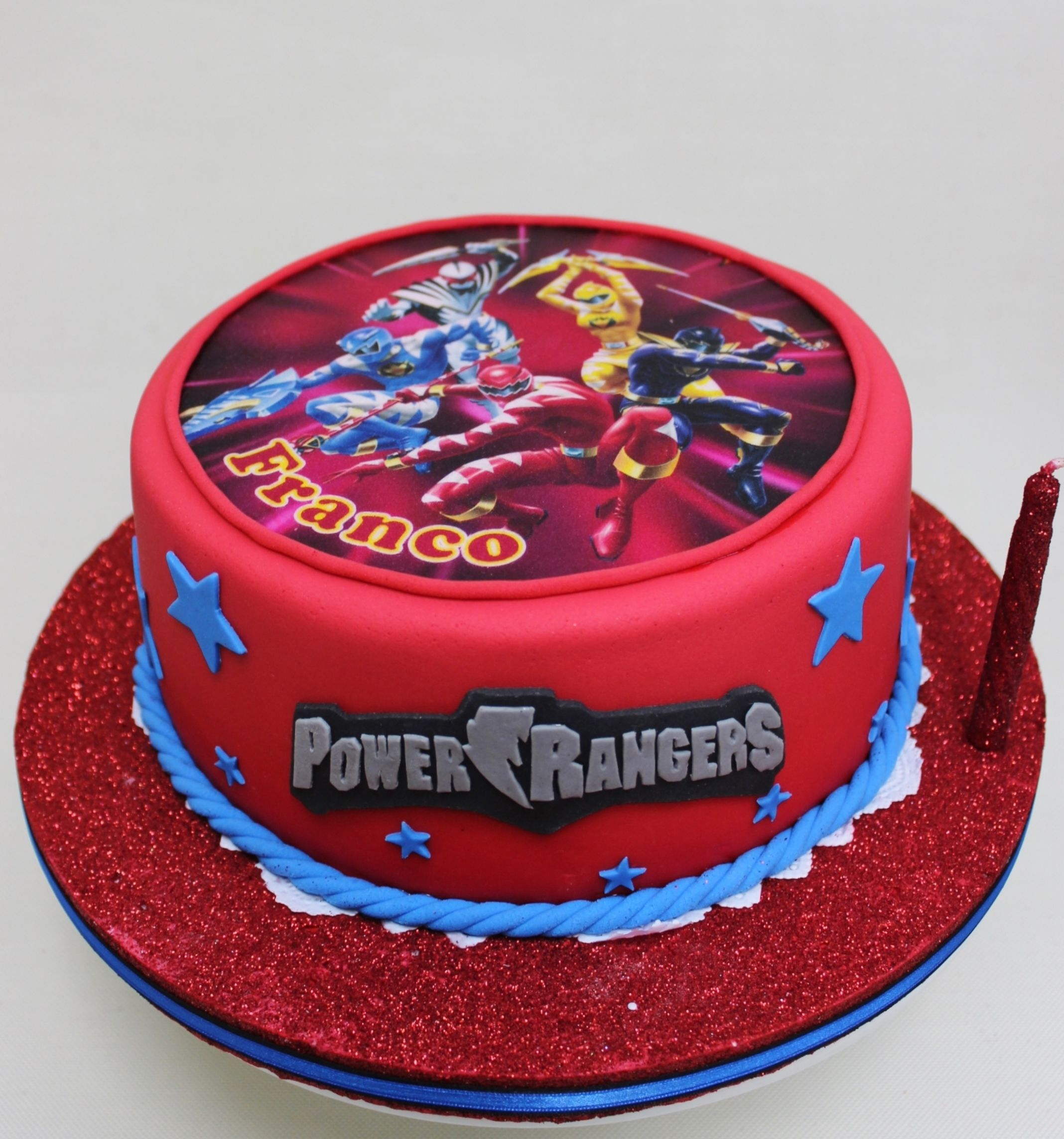 Power Ranger Birthday Cakes Rangers 6th Cake For A Boy Jude Christopher In