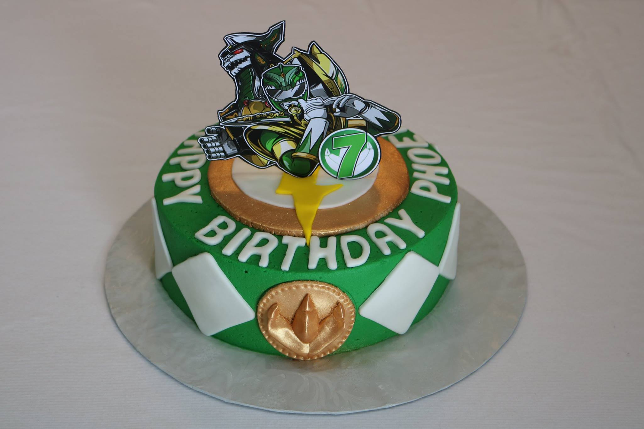 Power Rangers Birthday Cake Green Power Ranger Birthday Cake Rexburg Cakes