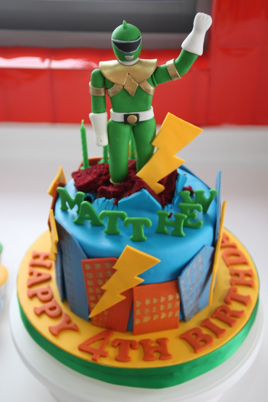 Power Rangers Birthday Cake Power Ranger Cake Cakes And Cupcakes For Kids Birthday Party