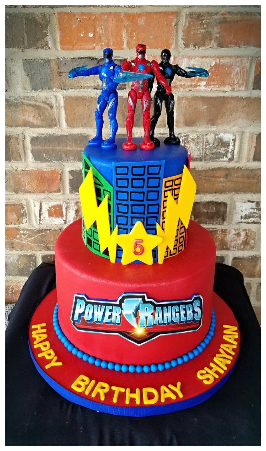 Power Rangers Birthday Cake Related Image Lincolns 5th Cake Pinterest Power Ranger