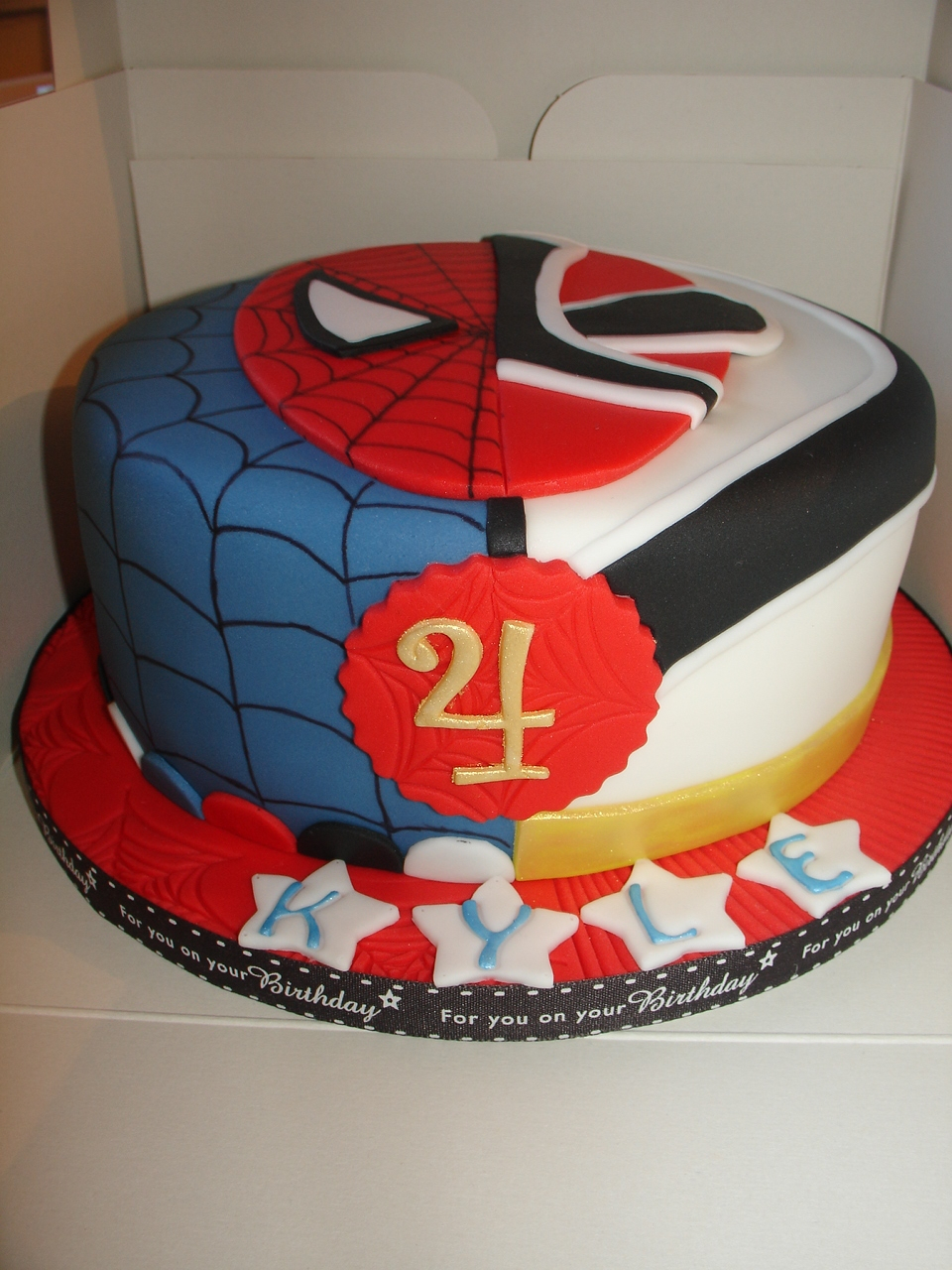 Power Rangers Birthday Cake Spiderman And Red Samurai Power Rangers Cake Cakecentral