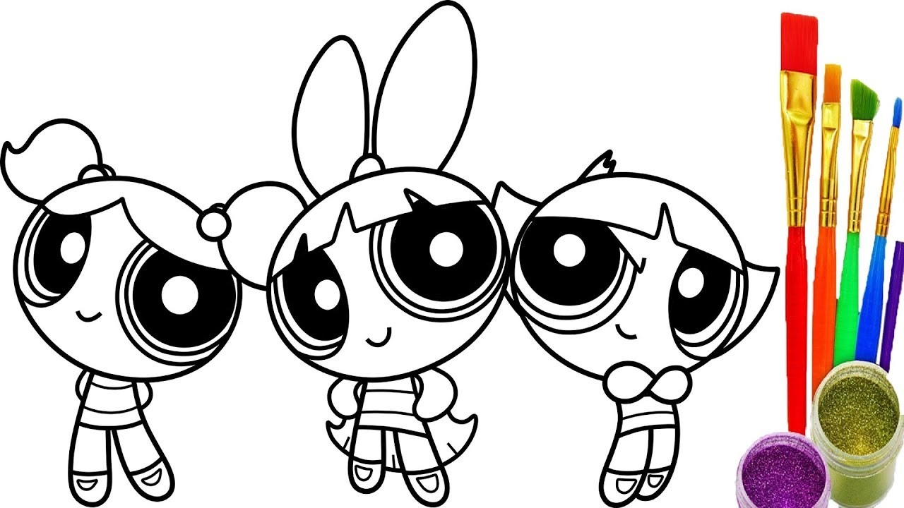 Powerpuff Girls Coloring Pages Coloring Sheets Of Girls Sketch How To Draw Powerpuff Girls Coloring