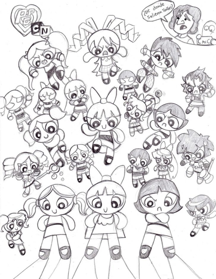 Powerpuff Girls Coloring Pages Free Printable Powerpuff Girls Coloring Pages For Kids