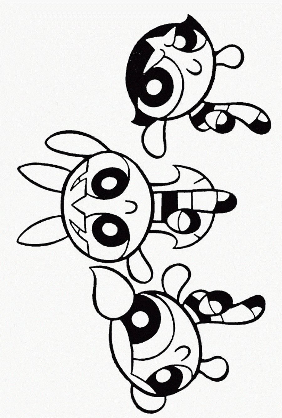 Powerpuff Girls Coloring Pages Free Printable Powerpuff Girls Coloring Pages For Kids For Girls