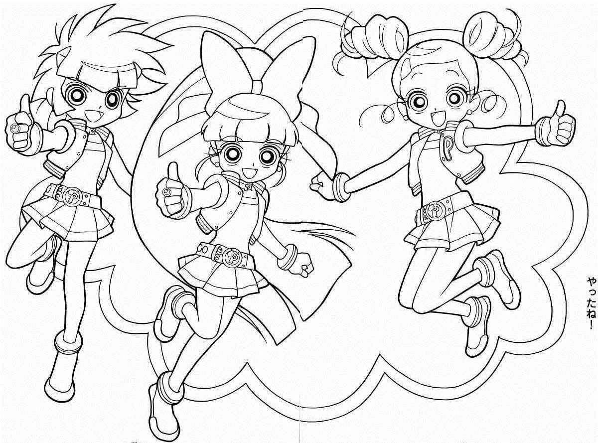 Powerpuff Girls Coloring Pages Powerpuff Girls Coloring Pages 1200 X 889 13299 Kb