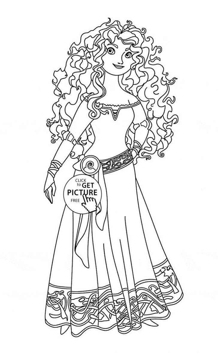 Princess Coloring Page Brave Coloring Pages