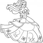 Princess Coloring Page Dancing Princess Coloring Page Free Printable Coloring Pages