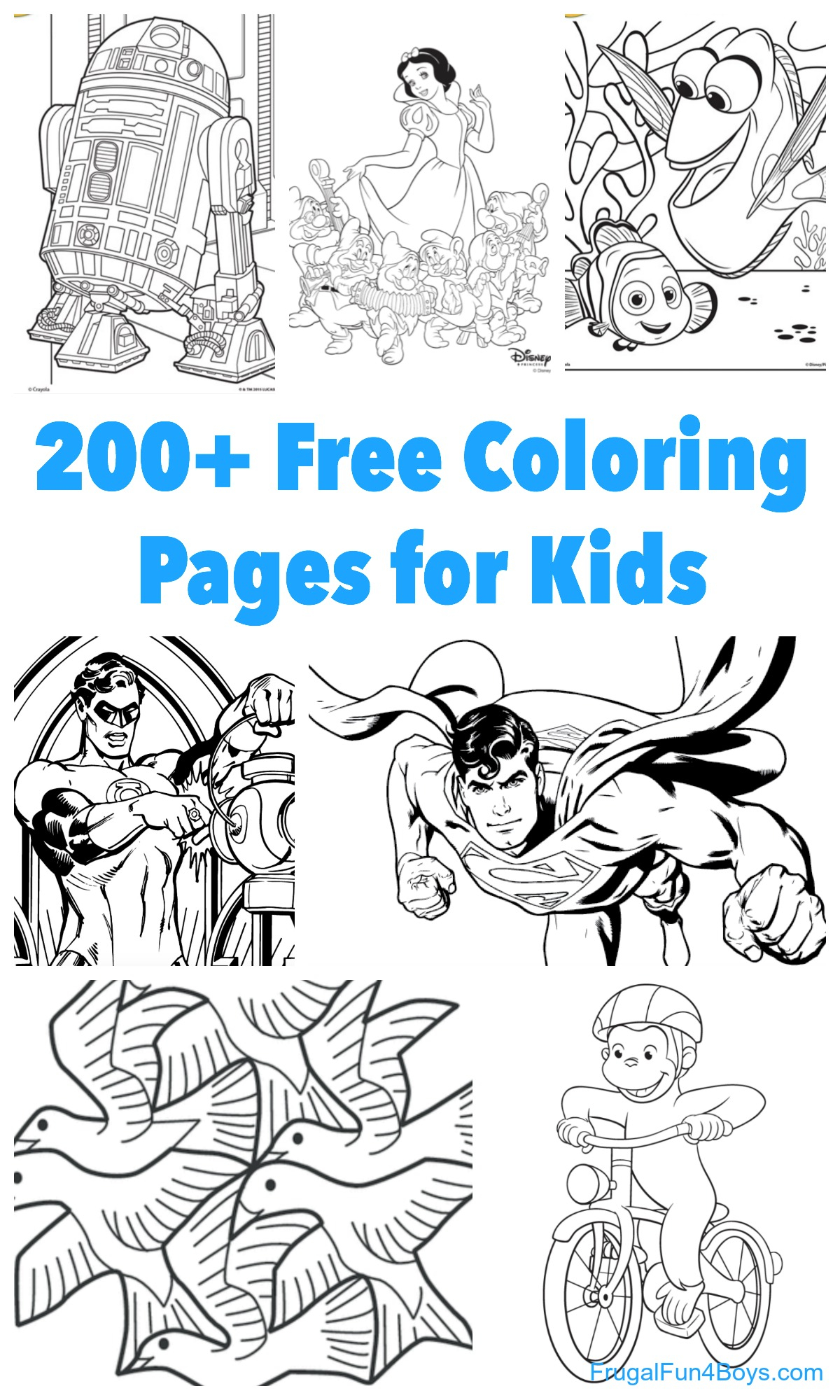 Printable Coloring Pages For Girls 200 Printable Coloring Pages For Kids Frugal Fun For Boys And Girls