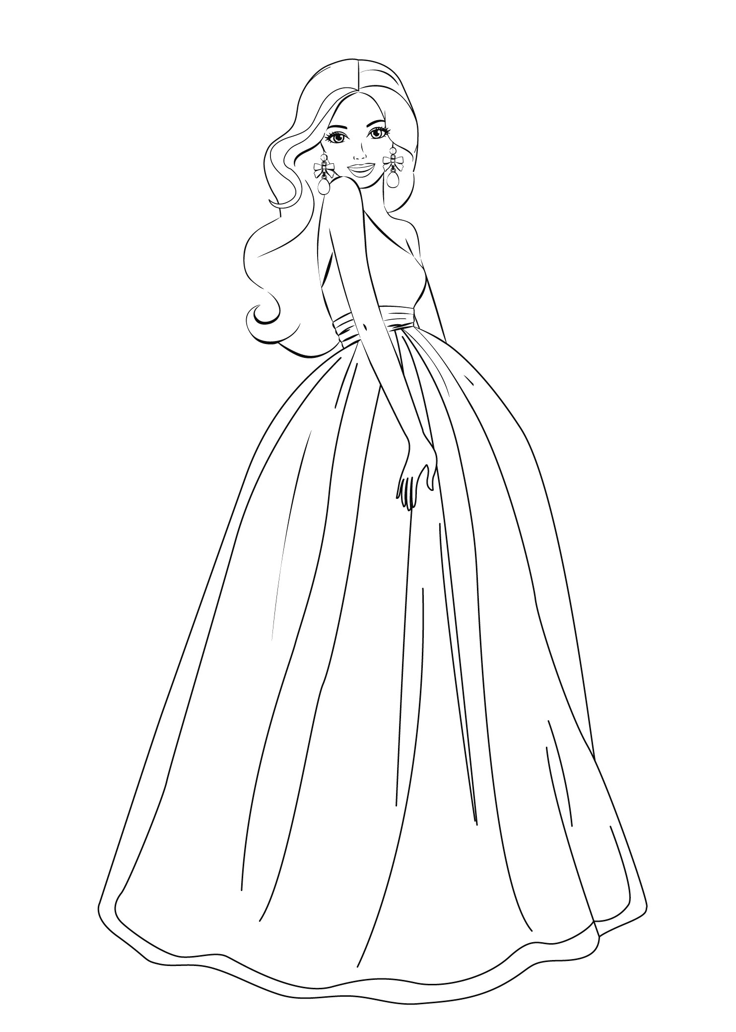 Printable Coloring Pages For Girls Free Coloring Pages For Girls Paysage Barbie Printable Coloring