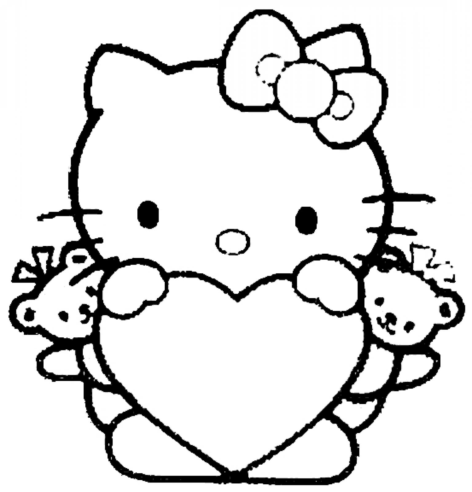 Printable Coloring Pages For Girls Incredible Hello Kittytable Coloring Pages Picture Ideas Color Free