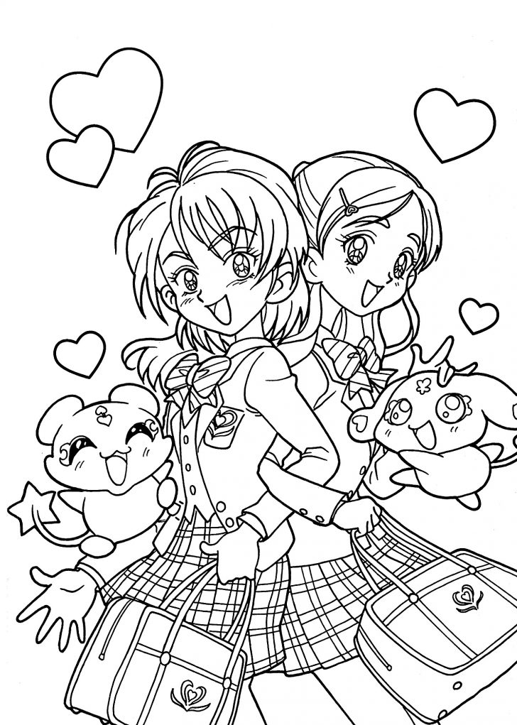 Printable Coloring Pages For Girls Print Coloring Pages Awesome Stock Cute Anime Chibi Girl Coloring