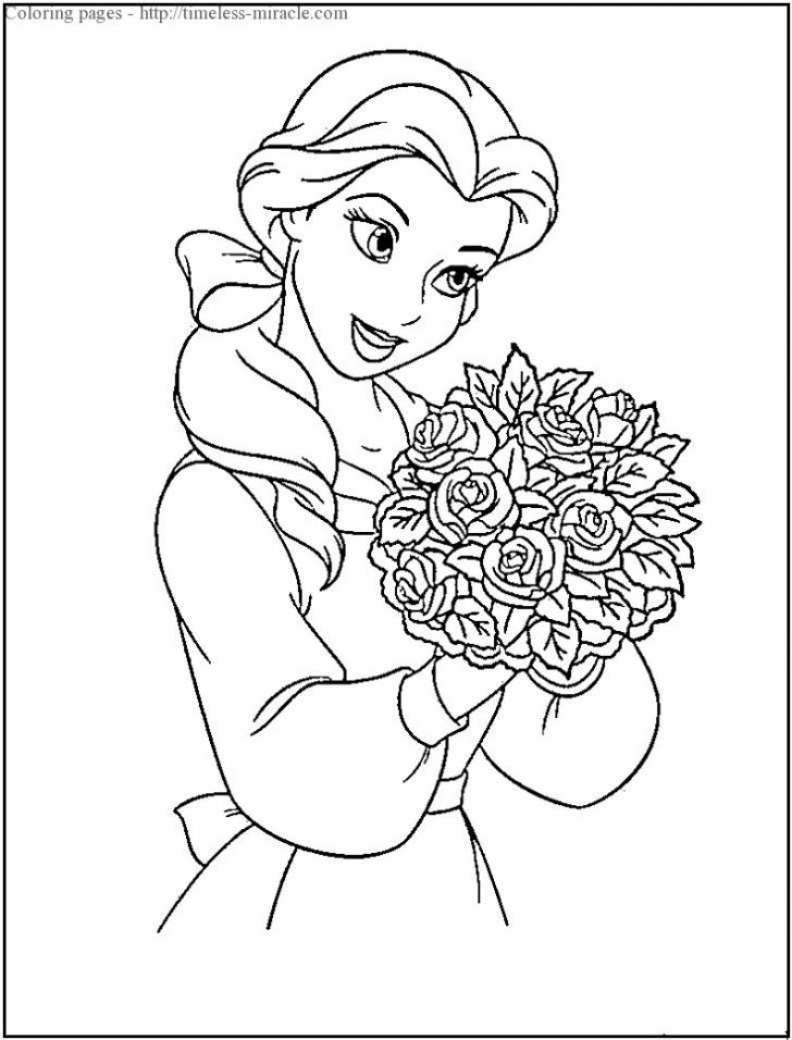 Printable Disney Coloring Pages Printable Disney Coloring Page Timeless Miracle
