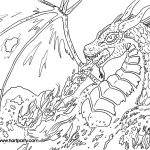 Printable Dragon Coloring Pages Fire Breathing Dragon Coloring Pages For Adults Printable L