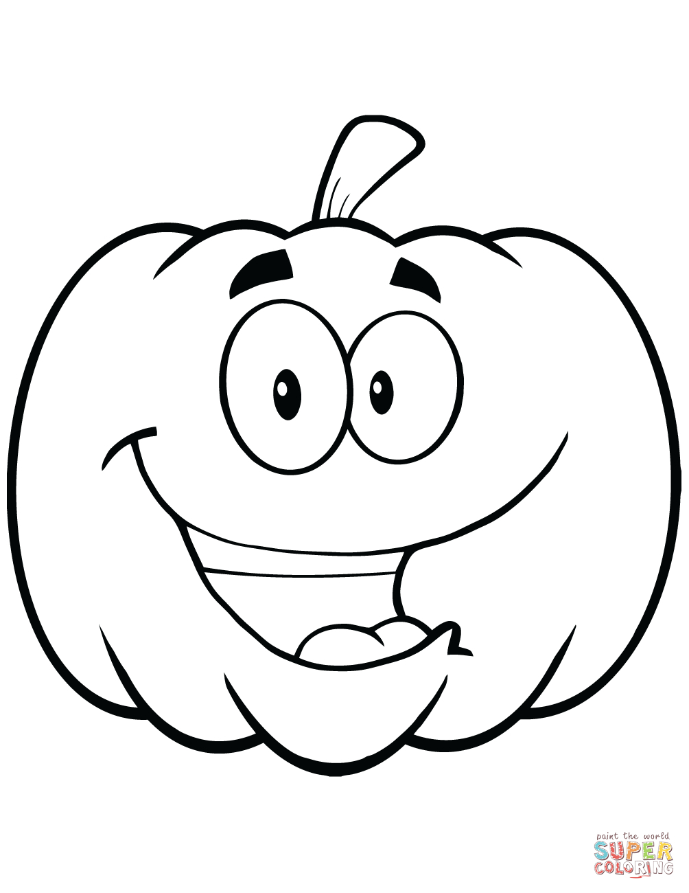 Printable Pumpkin Coloring Pages Free Printable Pumpkin Coloring Pages Cartoon Halloween Pumpkin