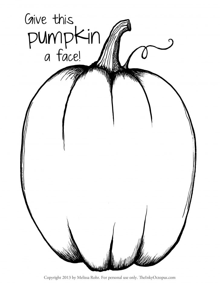 Printable Pumpkin Coloring Pages Free Pumpkin Coloring Page Printable Pumpkins Pages Fun For