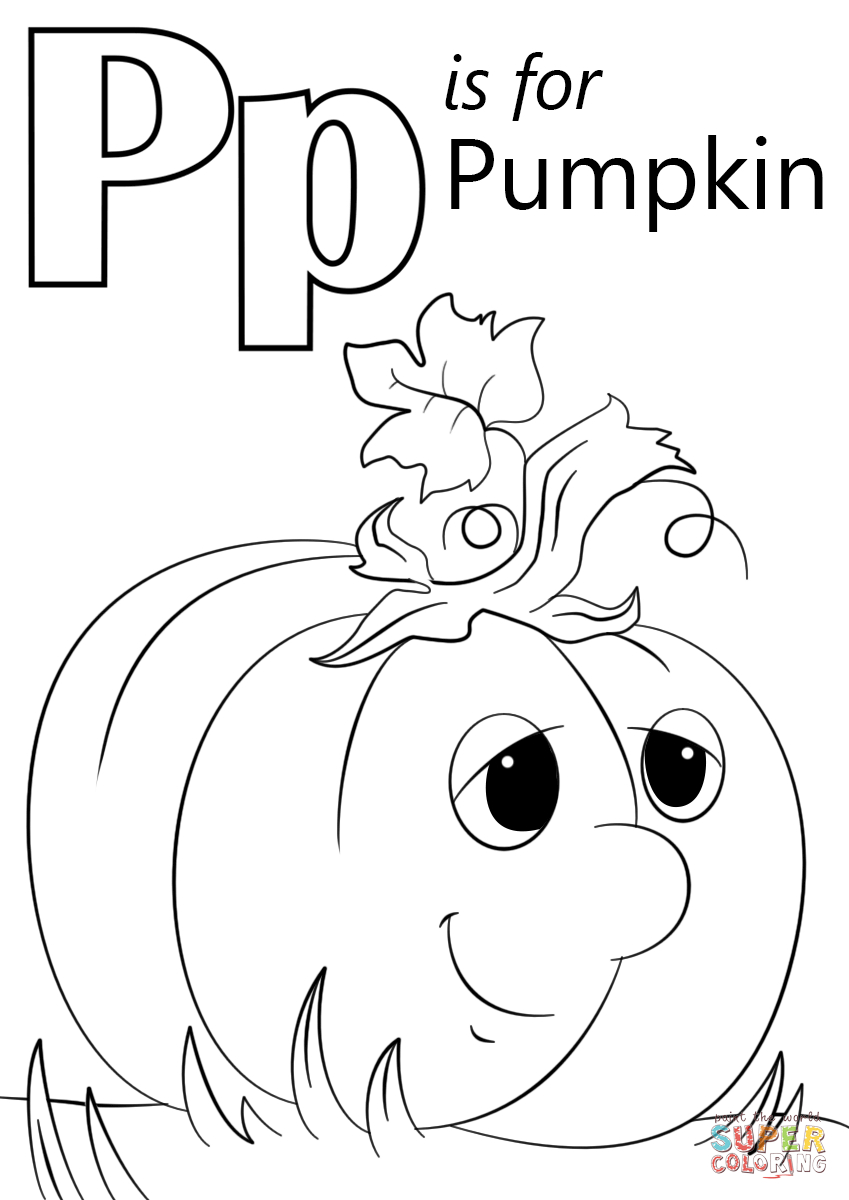 Printable Pumpkin Coloring Pages Letter P Is For Pumpkin Coloring Page Free Printable Coloring Pages