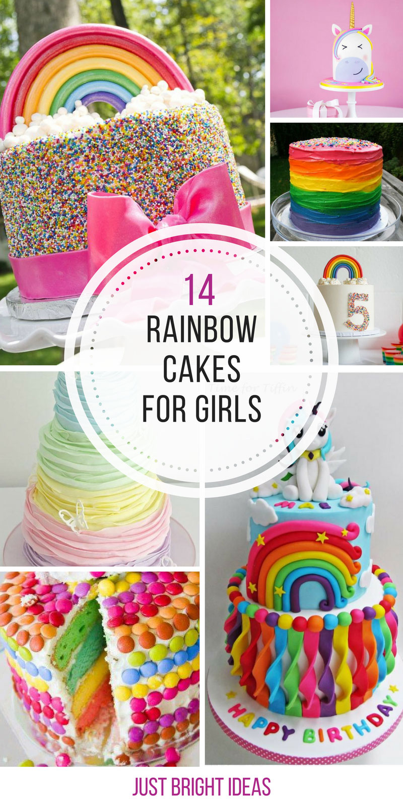 Rainbow Birthday Cake 14 Totally Magical Rainbow Birthday Cakes For Girls