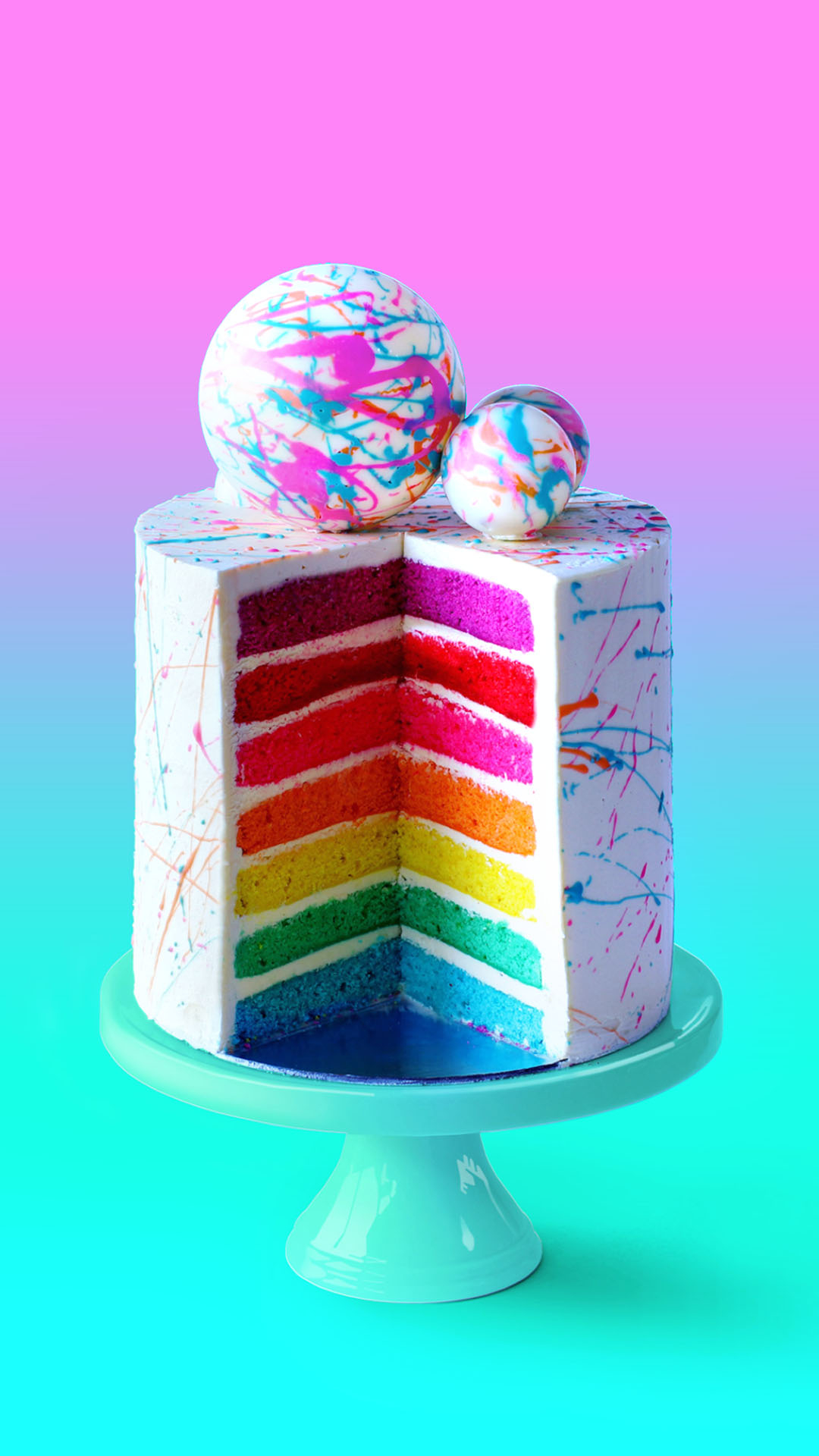 Rainbow Birthday Cake 7 Layer Rainbow Cake Recipe Tastemade