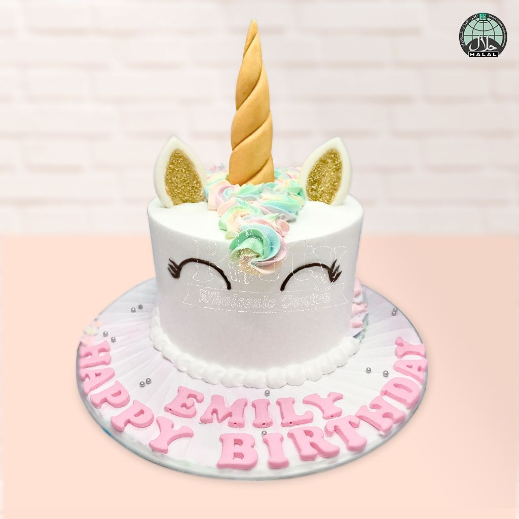 Rainbow Birthday Cake Customised Magical Unicorn Pastel Rainbow Birthday Cake Party