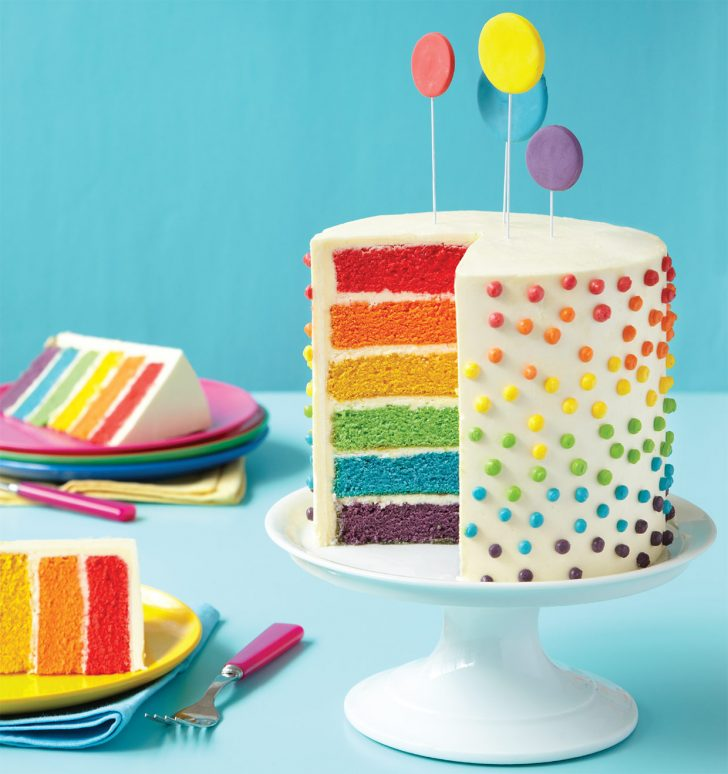 Rainbow Birthday Cake How To Make This Deceptively Easy Rainbow Layer Cake