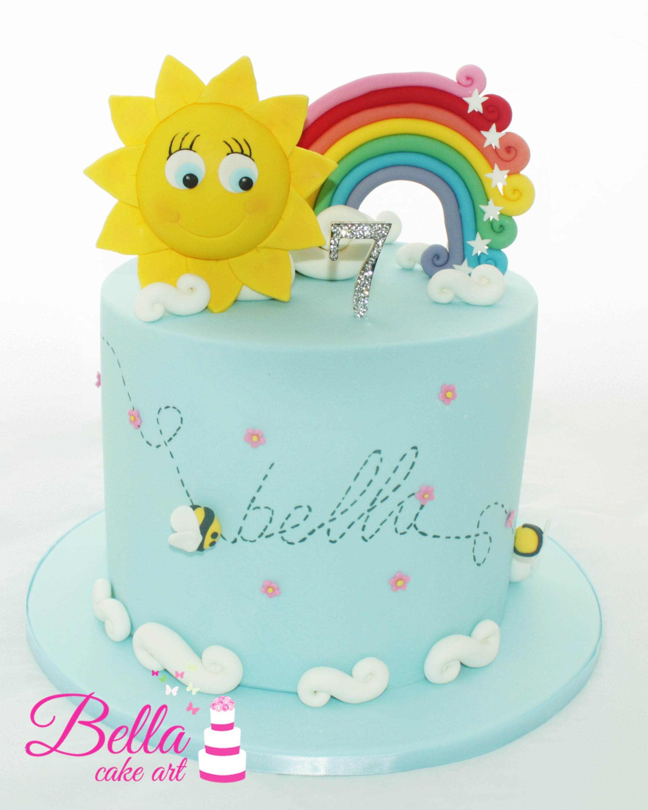 Rainbow Birthday Cake Rainbow And Sun Birthday Cake