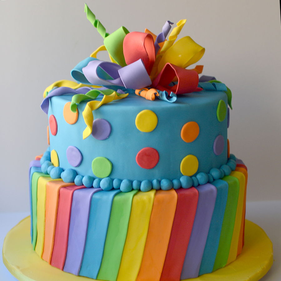 Rainbow Birthday Cake Rainbow Birthday Cake Cakecentral