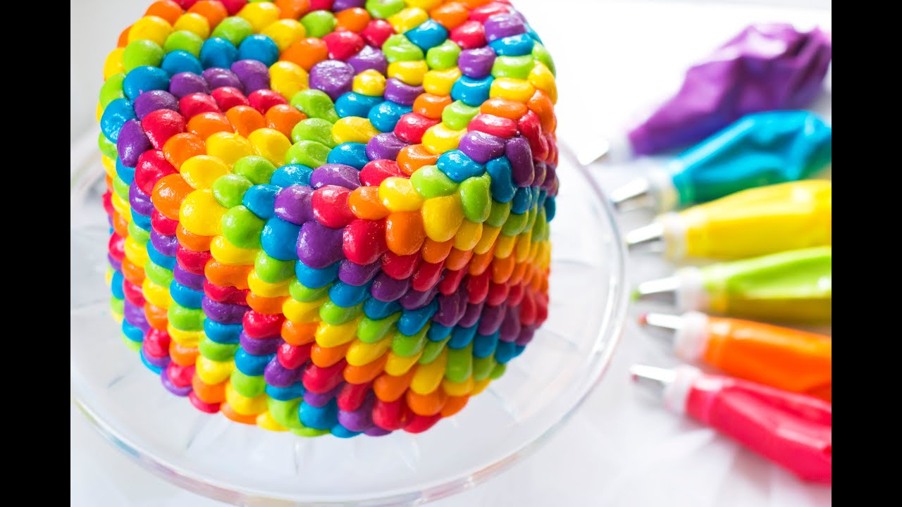 Rainbow Birthday Cake Rainbow Birthday Cake Youtube