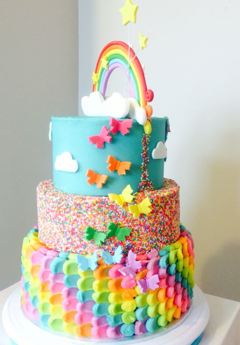Rainbow Birthday Cake Rainbow Cake Back Of My Little Pony Rainbow Dash Cake The