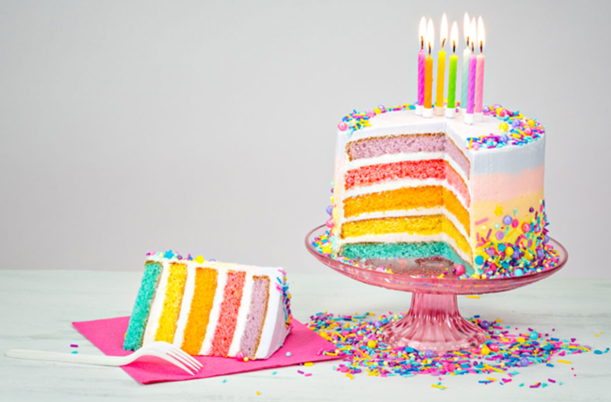 30 Wonderful Picture of Rainbow Birthday Cake