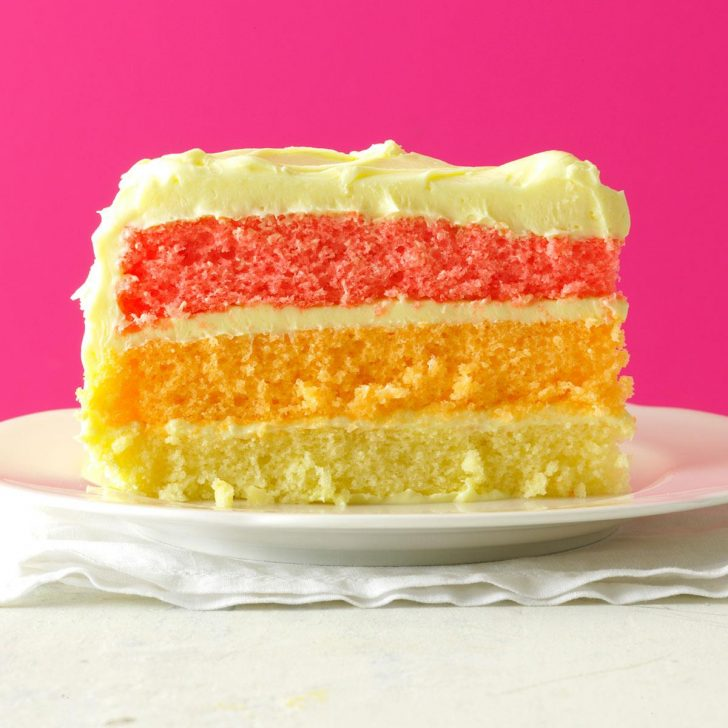 Rainbow Birthday Cake Rainbow Layer Cake Recipe Taste Of Home