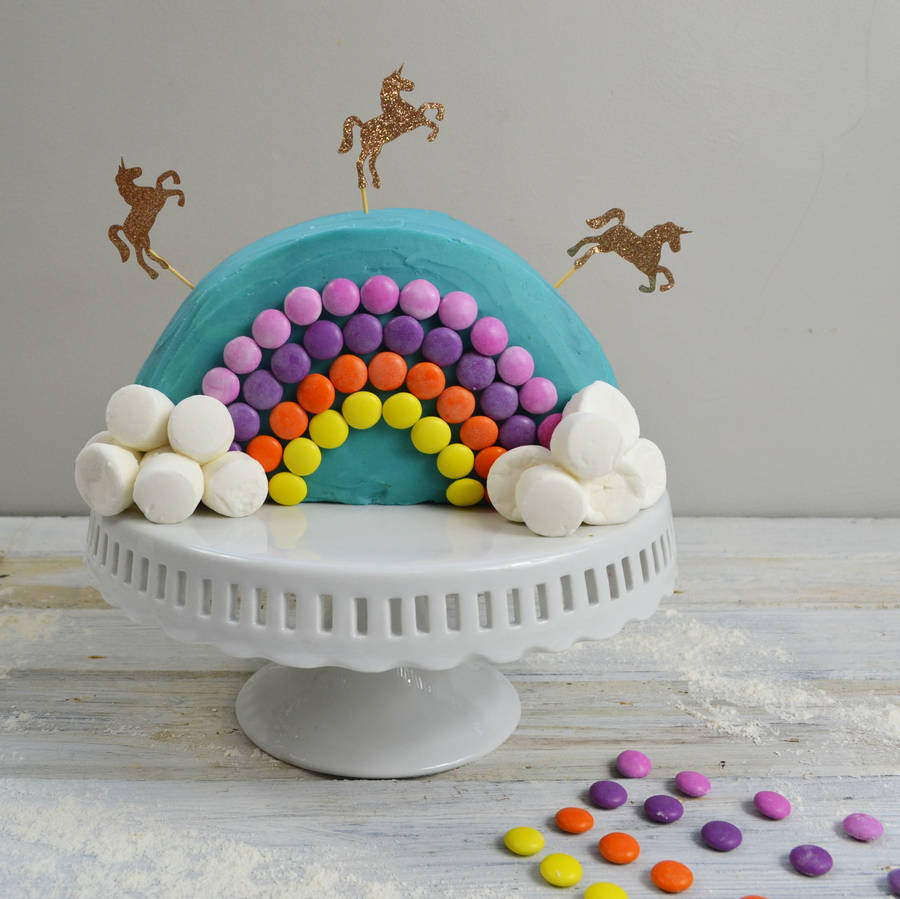 Rainbow Birthday Cake Rainbow Unicorn Birthday Cake Kit Craft Crumb