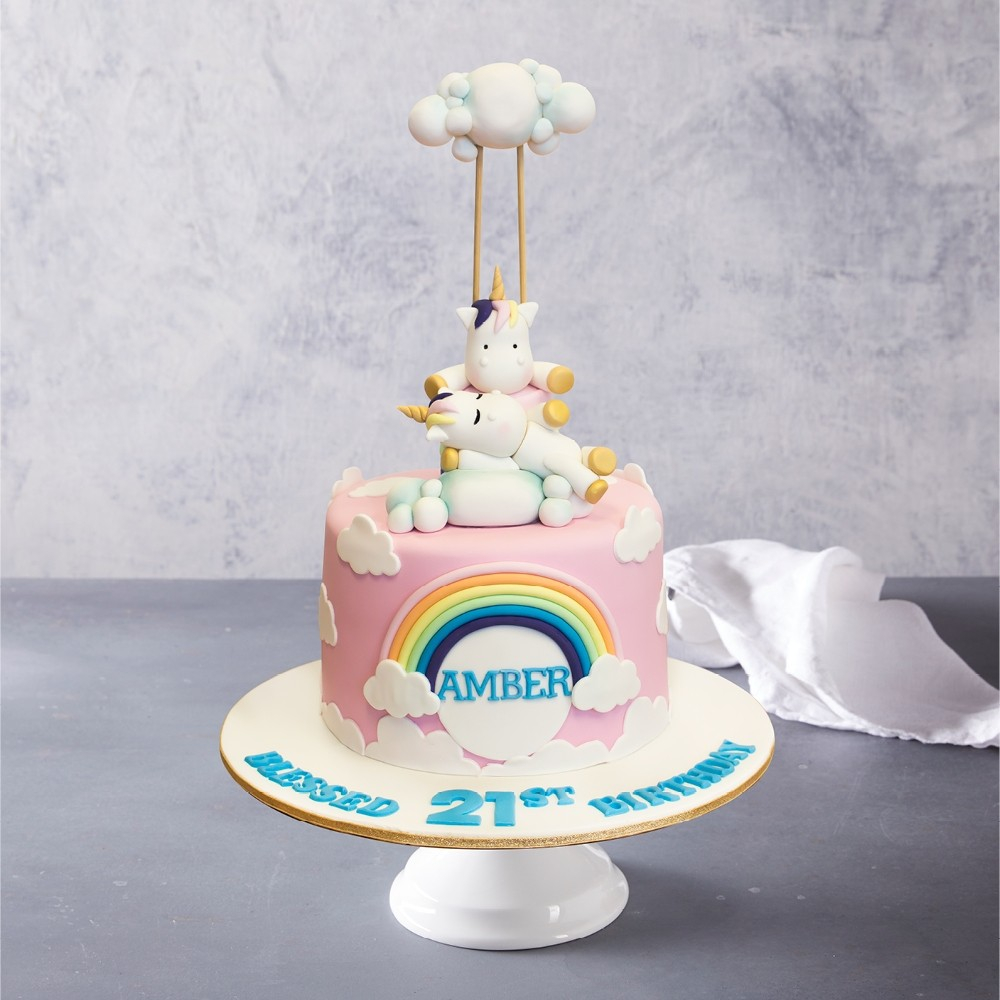 Rainbow Birthday Cake Unicorn Cloud Rainbow Birthday Cake