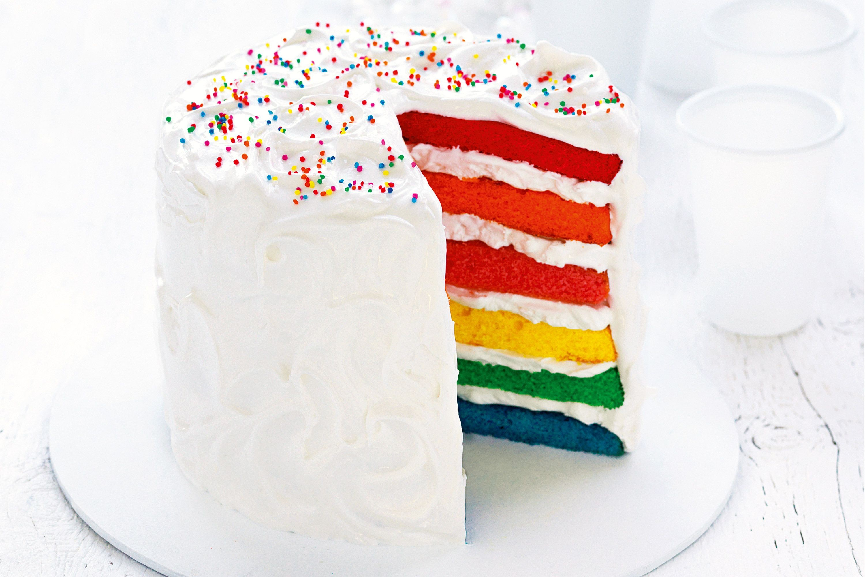 Rainbow Birthday Cakes Layered Rainbow Cake