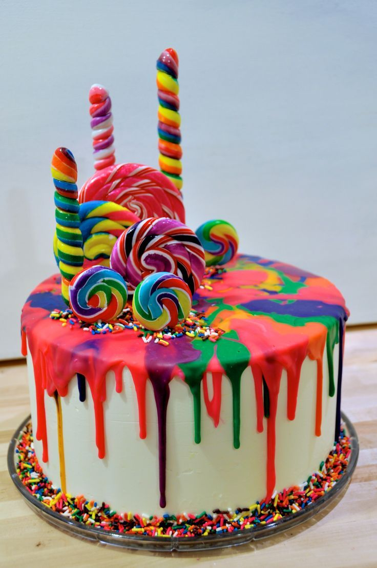 Rainbow Birthday Cakes My First Attempt At A Katherine Sabbath Style Drip Cake Carolina