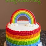 Rainbow Birthday Cakes Rainbow Cake Buttercream Ruffles 5th Birthday Pinterest
