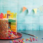 Rainbow Birthday Cakes Rainbow Piata Birthday Cake Cake Recipes Sbs Food