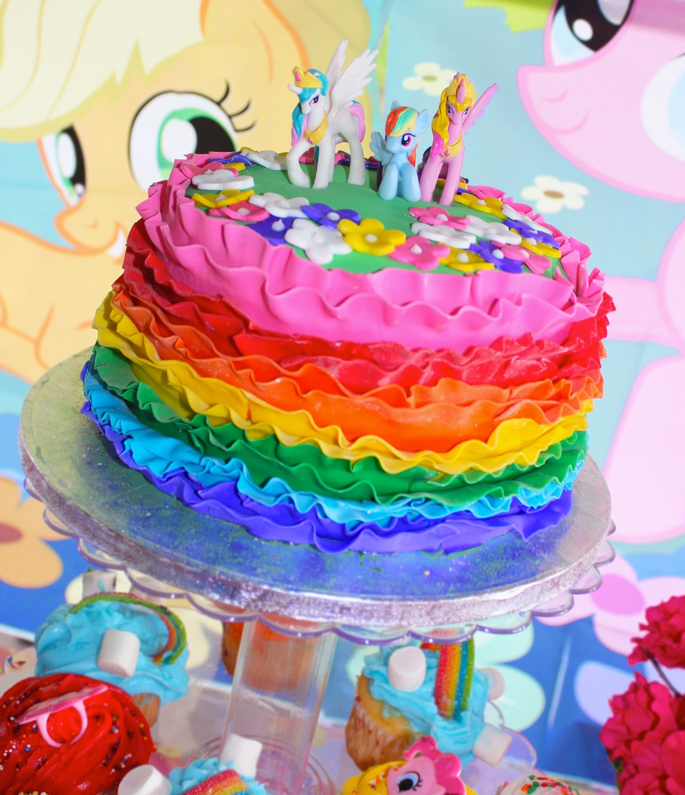 Rainbow Dash Birthday Cake A Rainbow Dash Inspired Birthday Party Kroma Design Studio