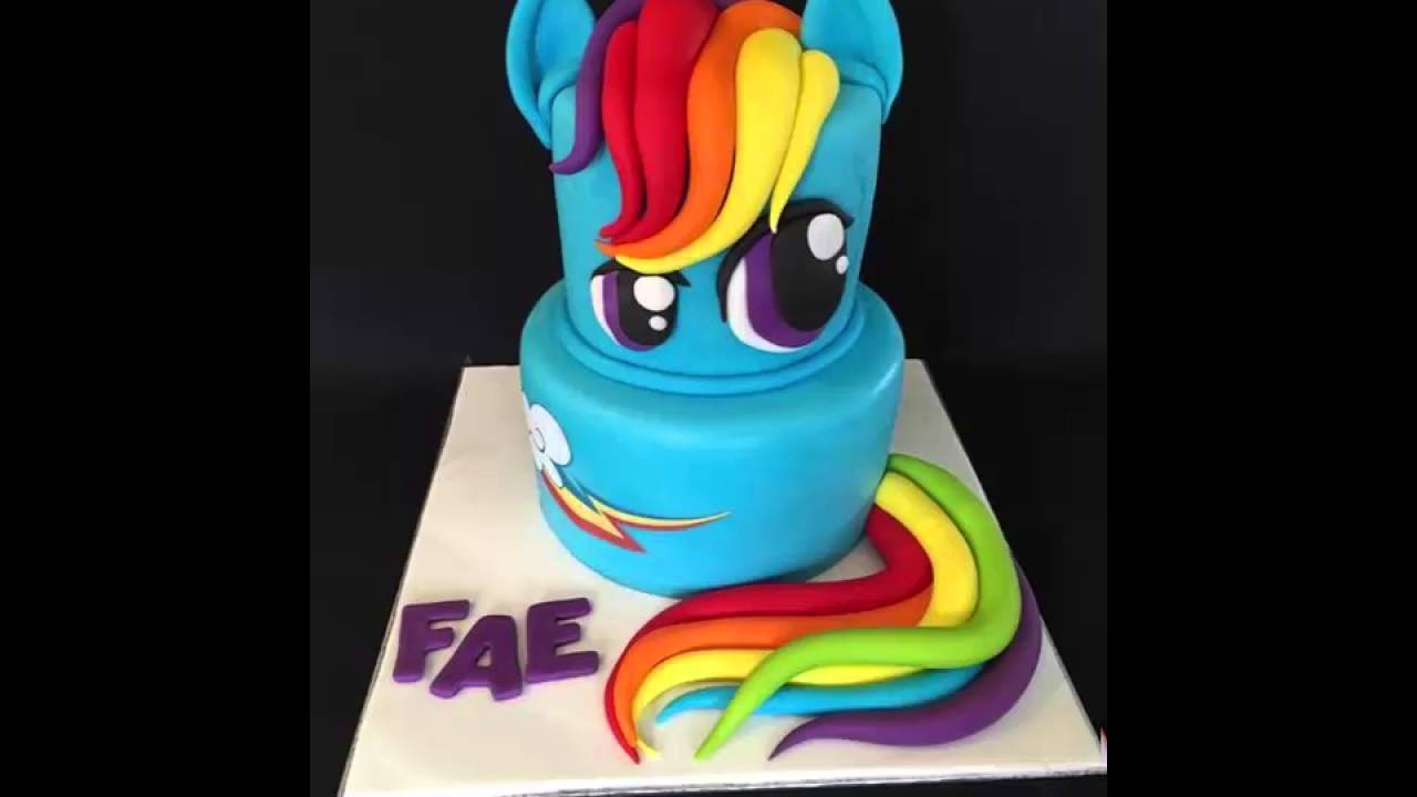 Rainbow Dash Birthday Cake How To Bake My Little Pony Rainbow Dash Cake Easy Youtube