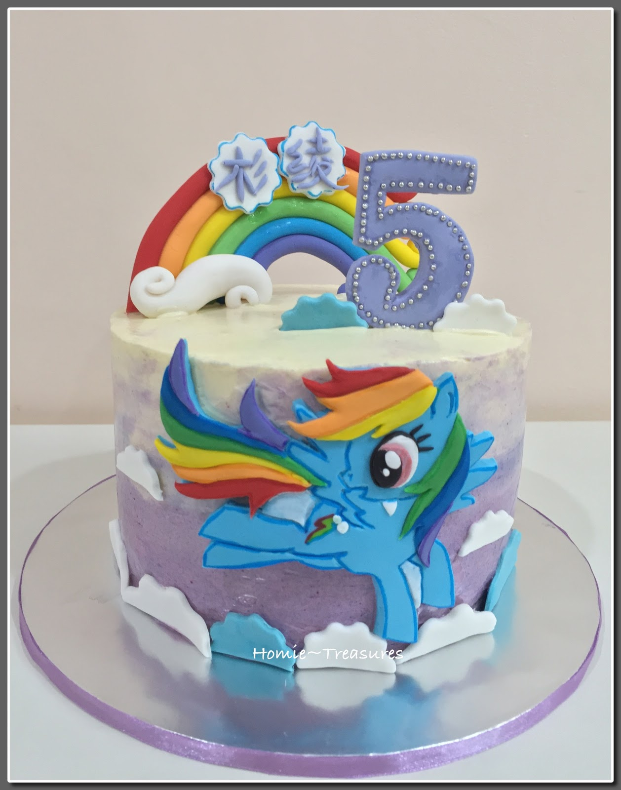 Rainbow Dash Birthday Cake My Humble Piece Of Art 2d Flying Rainbow Dash Love It