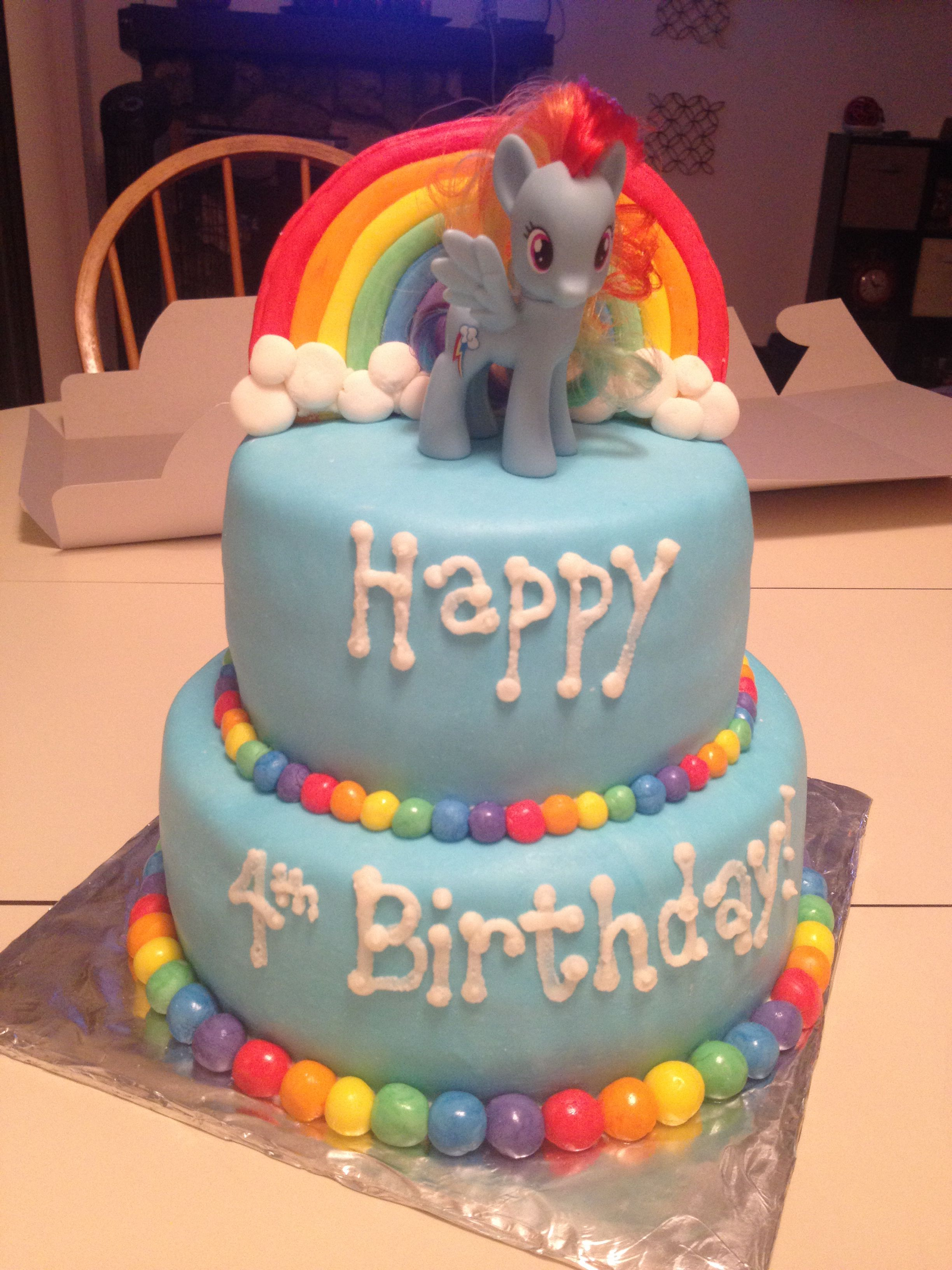 Rainbow Dash Birthday Cake My Little Pony Cake Rainbow Dash Cake I Like The Colored Balls