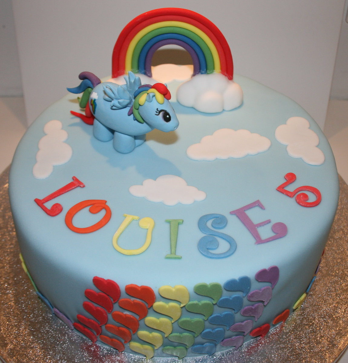 Rainbow Dash Birthday Cake Rainbow Dash Cake