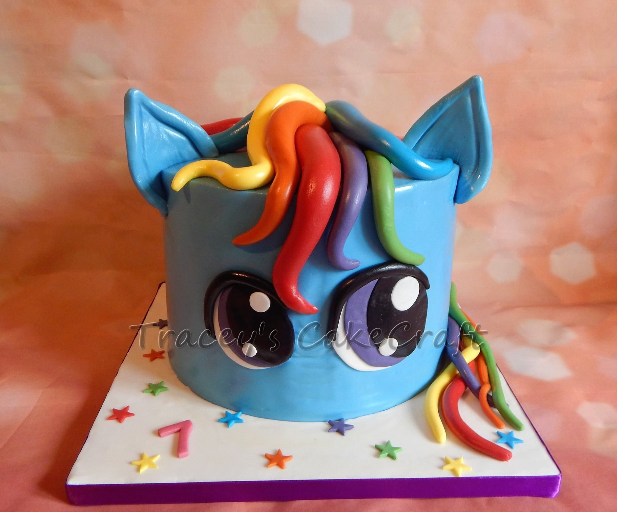 Rainbow Dash Birthday Cake Rainbow Dash My Little Pony Cake With Rainbow Layers For All Your