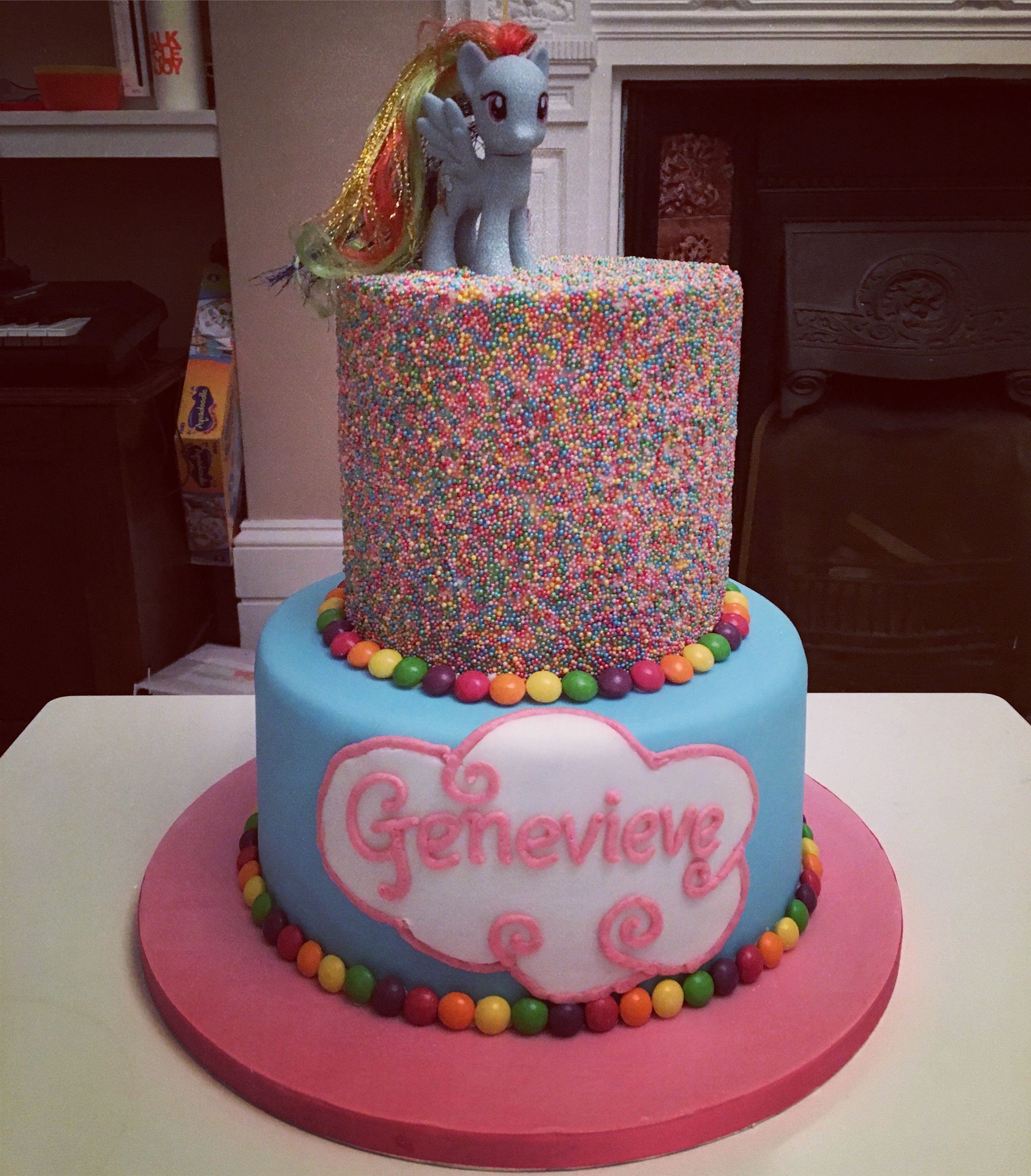 Rainbow Dash Birthday Cake Somewhere Over The Rainbow Richard Burr