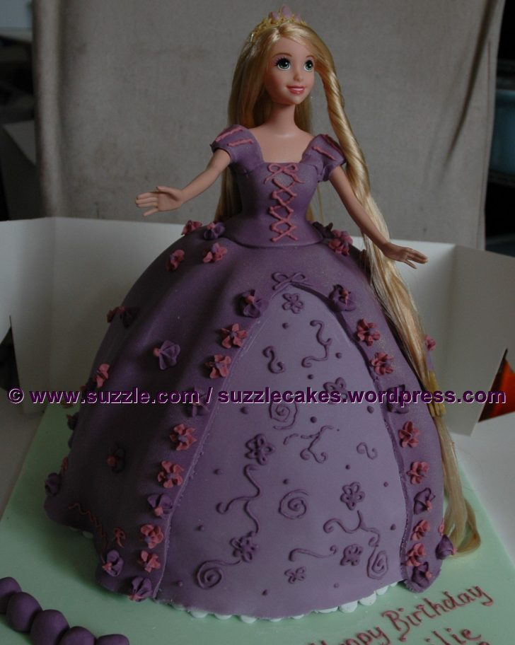 Rapunzel Birthday Cake Rapunzel Birthday Cake Disneys Tangled Suzzle Cakes