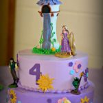 Rapunzel Birthday Cake Rapunzel Cake Buttercream With Fondant Accents Handmade Tower And